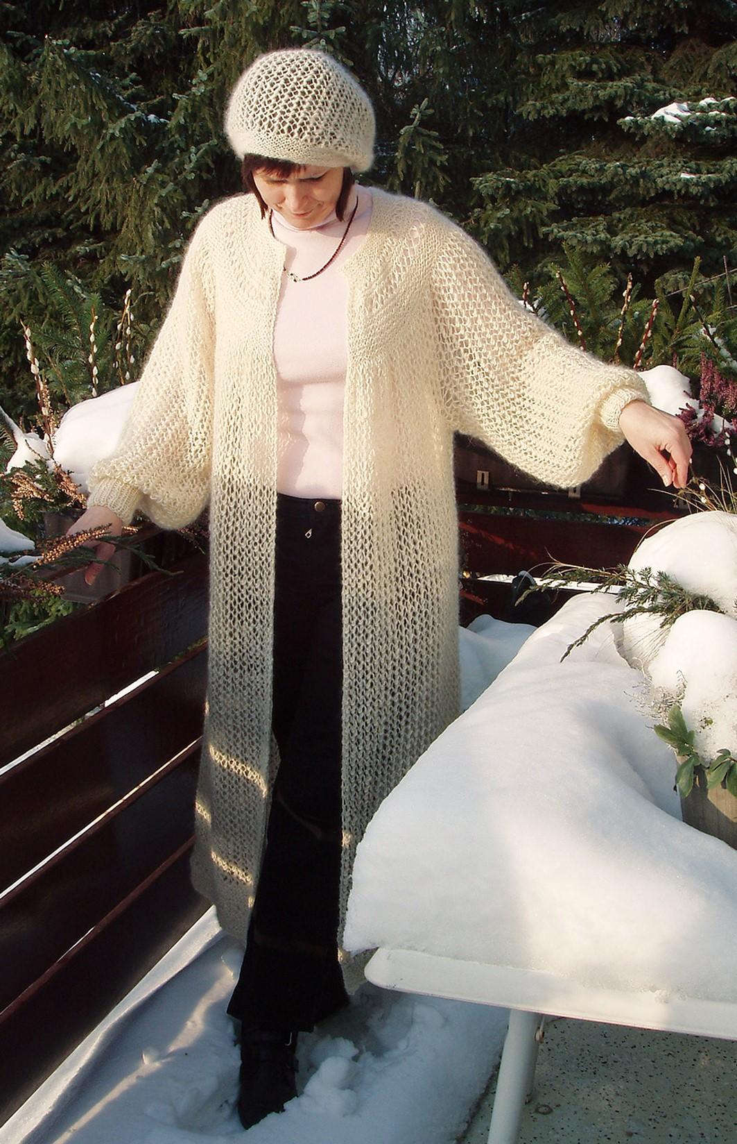 Dorotheas frakke i netmønster